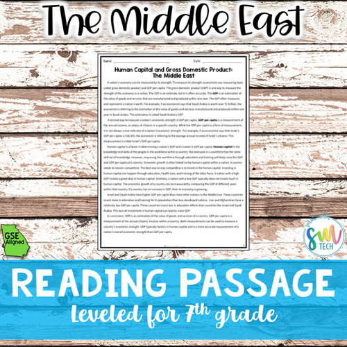 Human Capital & GDP Middle East Reading Packet (SS7E6, SS7E6b)