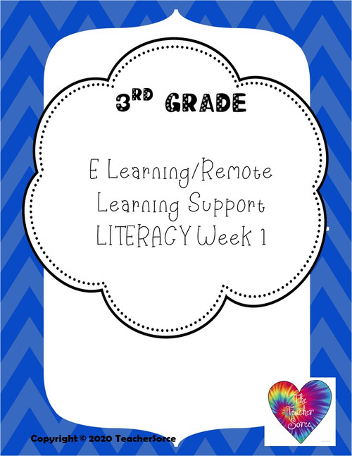 3rd Grade Literacy Activities Week 1