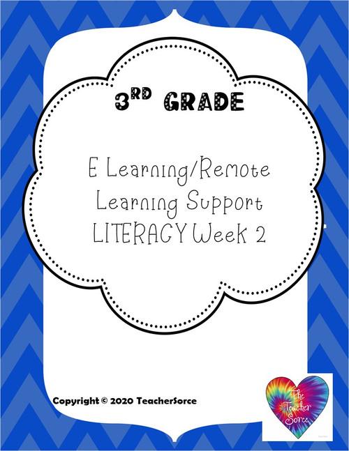 3rd Grade Literacy Activities Week 2