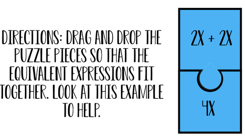 Equivalent Expressions Digital Online Learning Activity - FREE