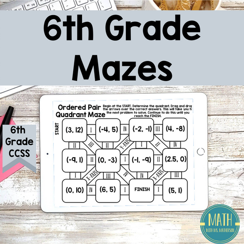 6th Grade Math Mazes: Online Digital Learning Activity - FREE