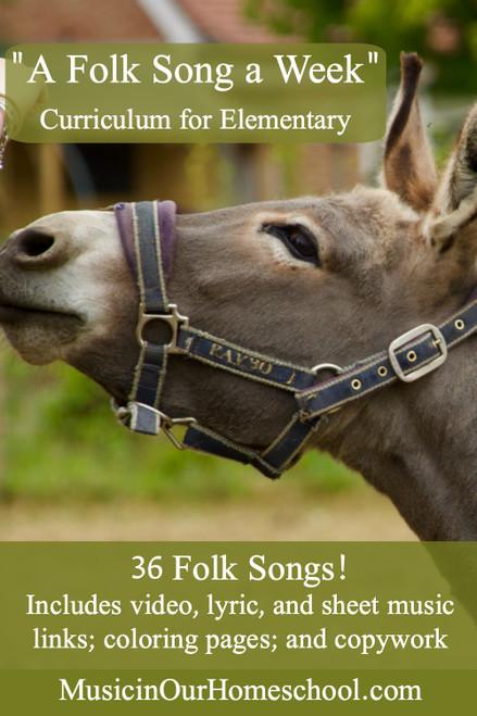 A Folk Song a Week elementary music curriculum