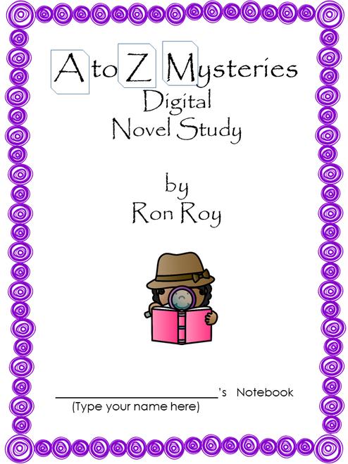 A to Z Mysteries Digital Novel Study in Google Slides