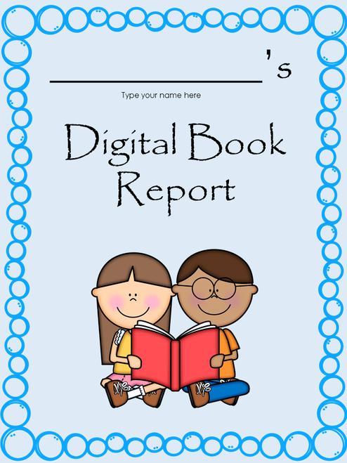 Interactive Digital Book Report in Google Slides