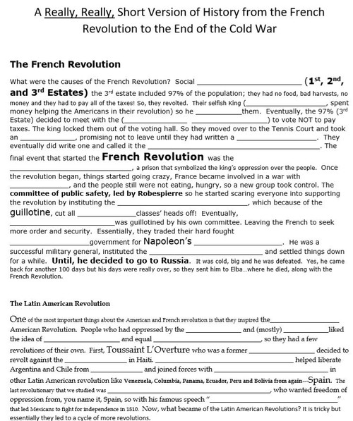 World History Final Exam A Really Short Version Of Review