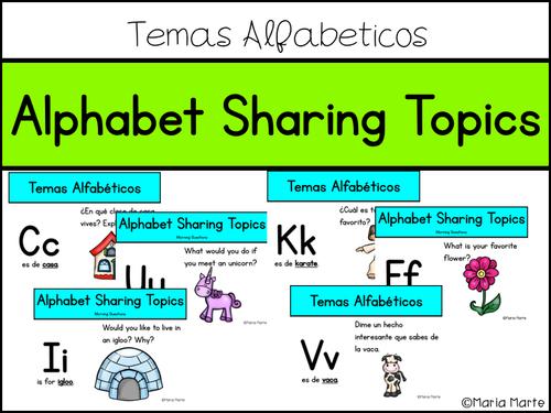 Morning Questions - Alphabet Sharing Topics