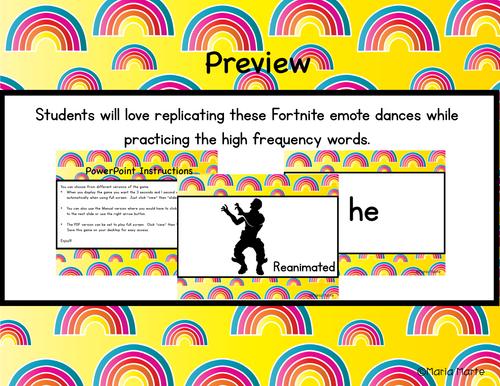 Fortnite Dolch Words Primer fluency