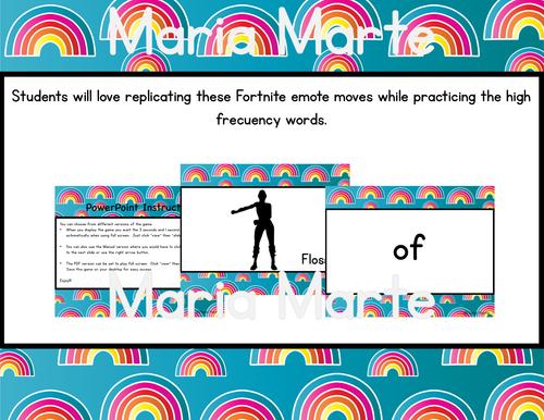 Fortnite Dolch Words First Grade Fluency