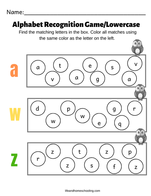 Lowercase Recognition Game
