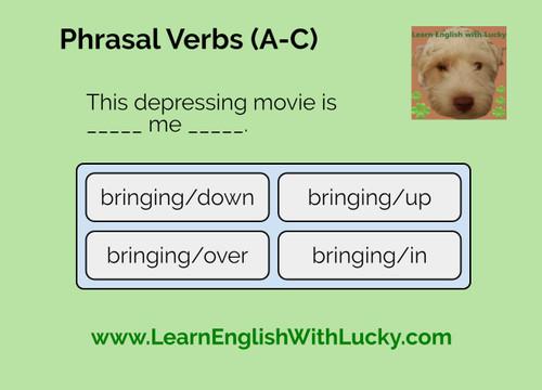 Phrasal Verbs Boom Cards (A to C)