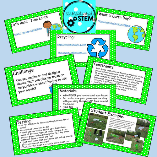Distance Learning:  Earth Day - Litter Pick-up Device STEM Challenge