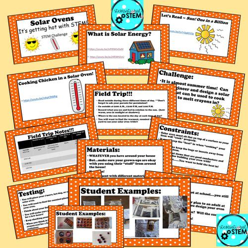 Distance Learning:  Solar Oven STEM Challenge