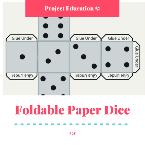 Foldable Paper Dice - FREE