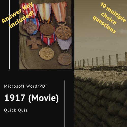 1917 (Movie) Quick Quiz