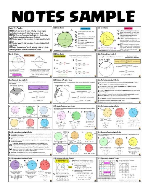 Circles (Geometry - Unit 12)
