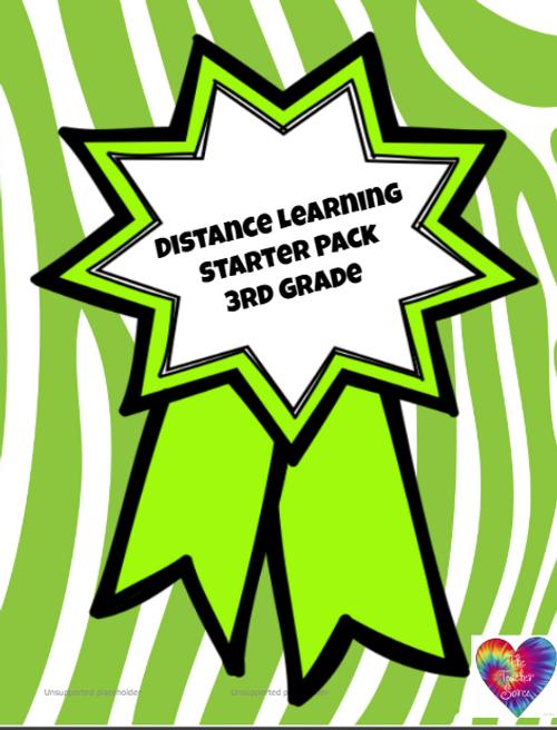 Distance Learning 3rd Grade Starter Pack (smaller variety)