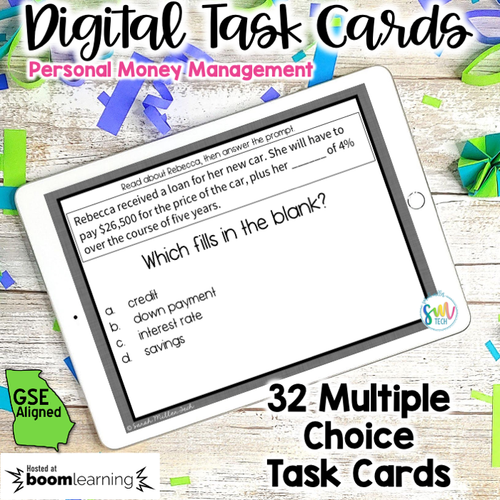 Personal Money Management DIGITAL Task Cards | DISTANCE LEARNING