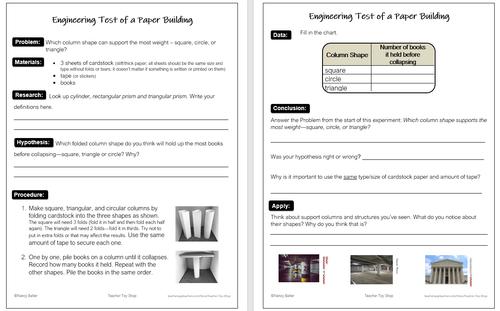 STEM Engineering Design Process Activity and Reading Passage
