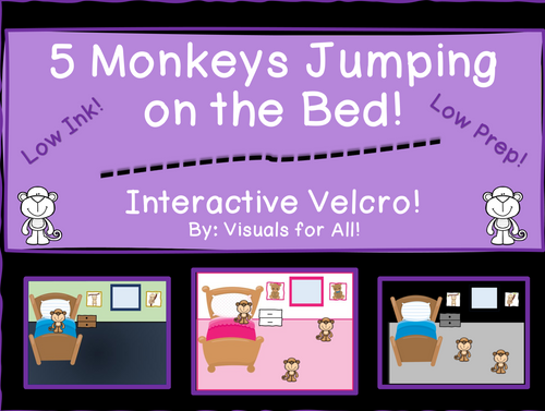 5 Monkeys Jumping on the Bed!