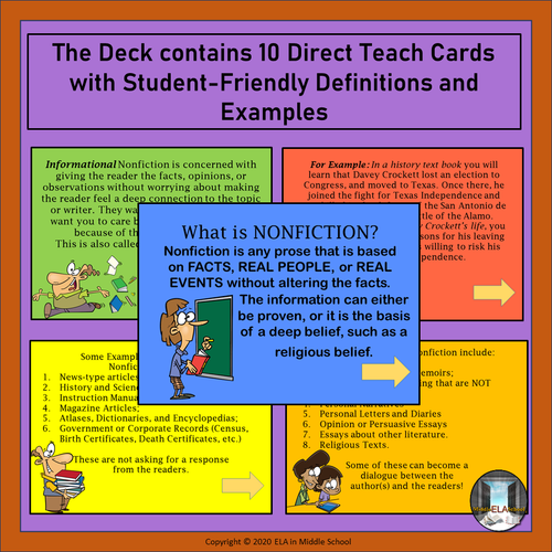Literary Genres: The Nonfiction Subgenre BOOM! Cards TM
