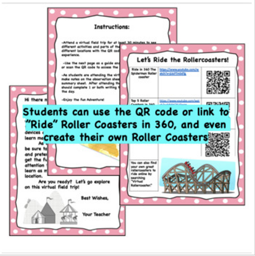Virtual Field Trip to the Amusement Park- Ride the Rollercoasters Virtually- The Science and Fun of Roller Coasters- FREE
