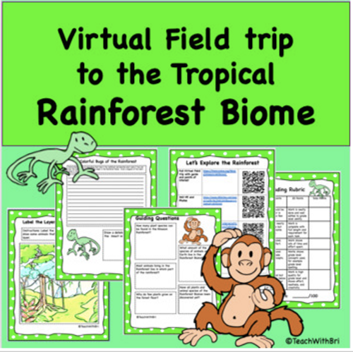 Discount Bundle- Biomes of the World- Virtual Field Trip Pack- 6 Trips for the Price of 4!