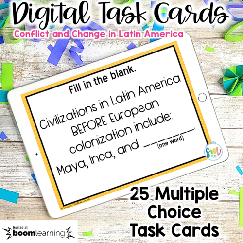 Conflict and Change in Latin America DIGITAL Task Cards | DISTANCE LEARNING | SS6H1
