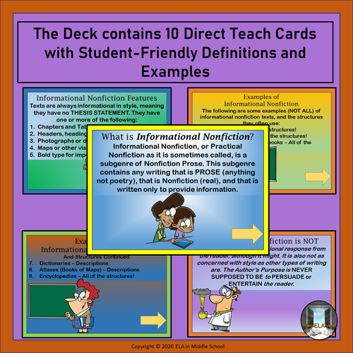 Literary Genres: The Informational Nonfiction Genre BOOM! Cards TM