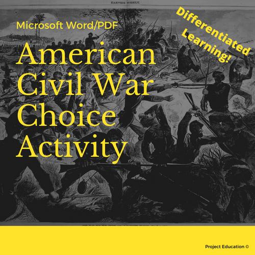 American Civil War Choice Activity