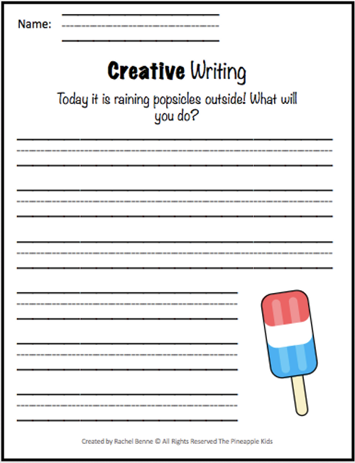 Creative Writing Prompts and Handwriting Paper