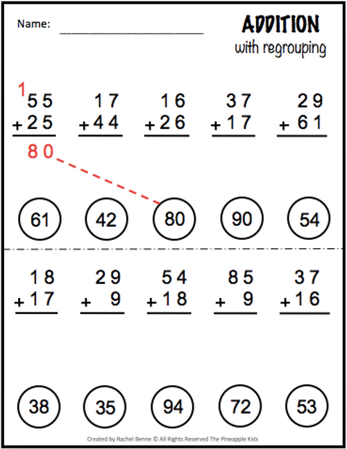 Addition With AND Without Regrouping - 2 Digit