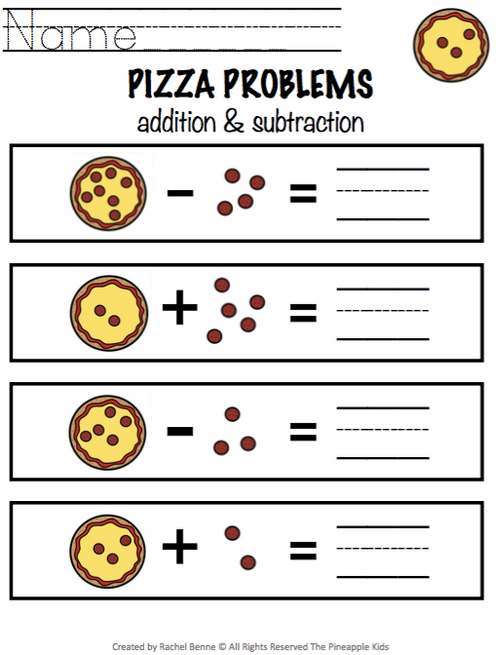 Addition and Subtraction Problems Without Regrouping | Math Center