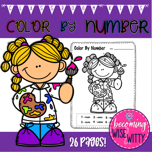 Color by Number-Classroom Kids