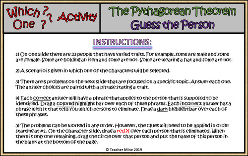 The Pythagorean Theorem - Which One? Digital Activity