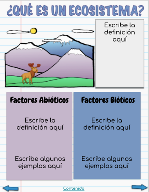 Cuaderno Interactivo Digital Ecosistemas (Distance Learning)