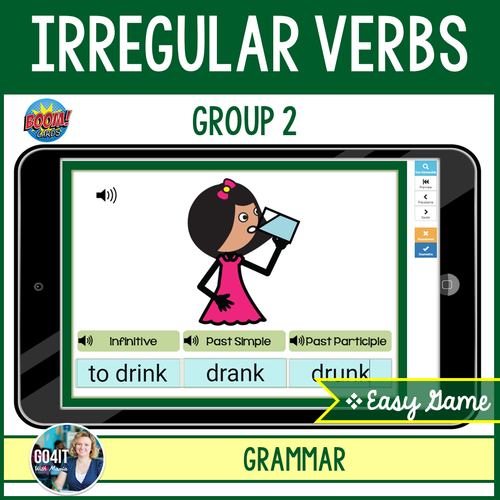 Boom Cards™ – Irregular Verbs - Group 2 - Easy Audio