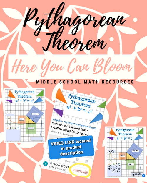 Pythagorean Theorem Video Editable Notes For Virtual Learning Free