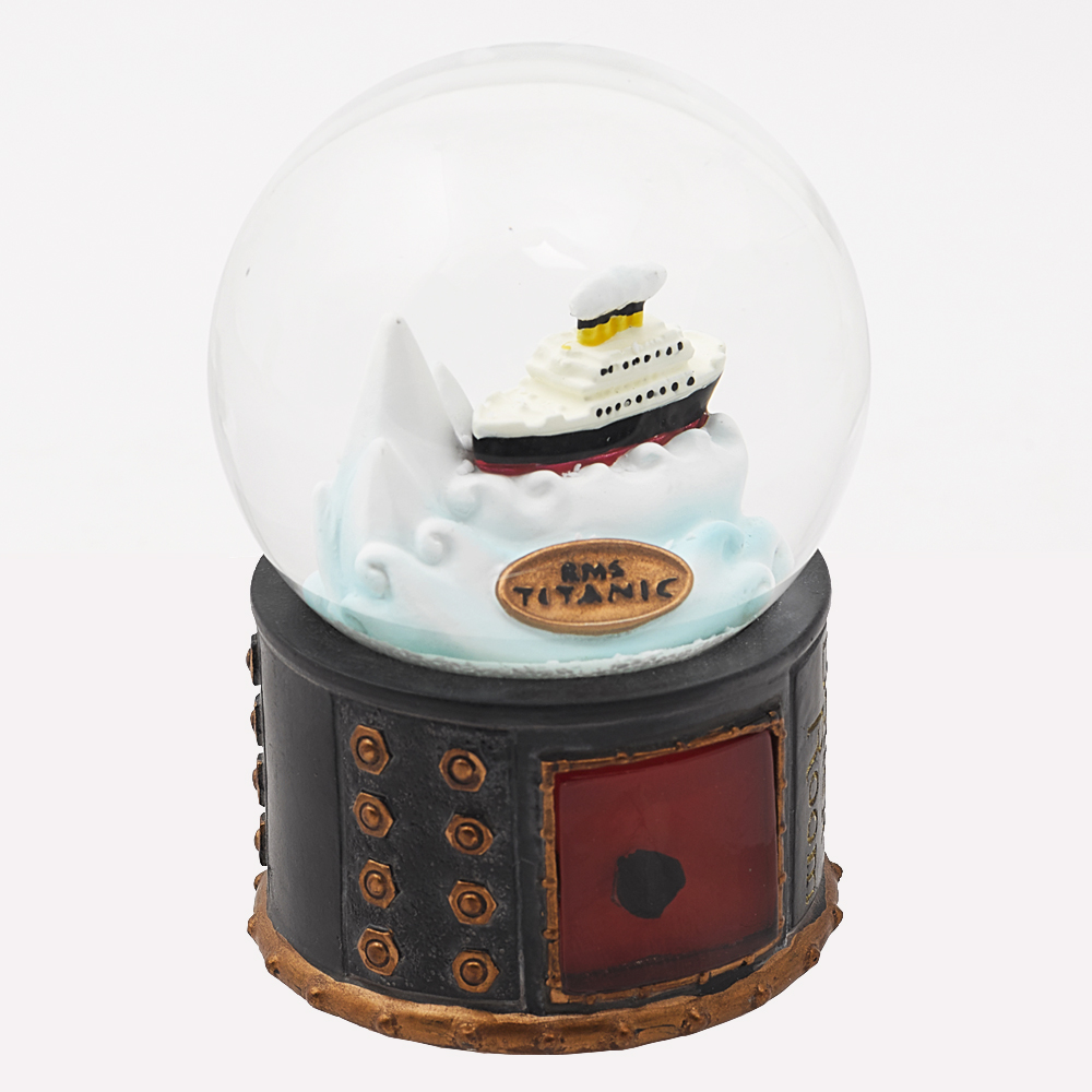 coal snowglobe 60 mm with ship