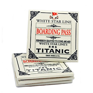 Boarding Pass Coasters