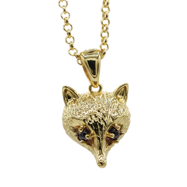 Foxhead Necklace -Gold Plating