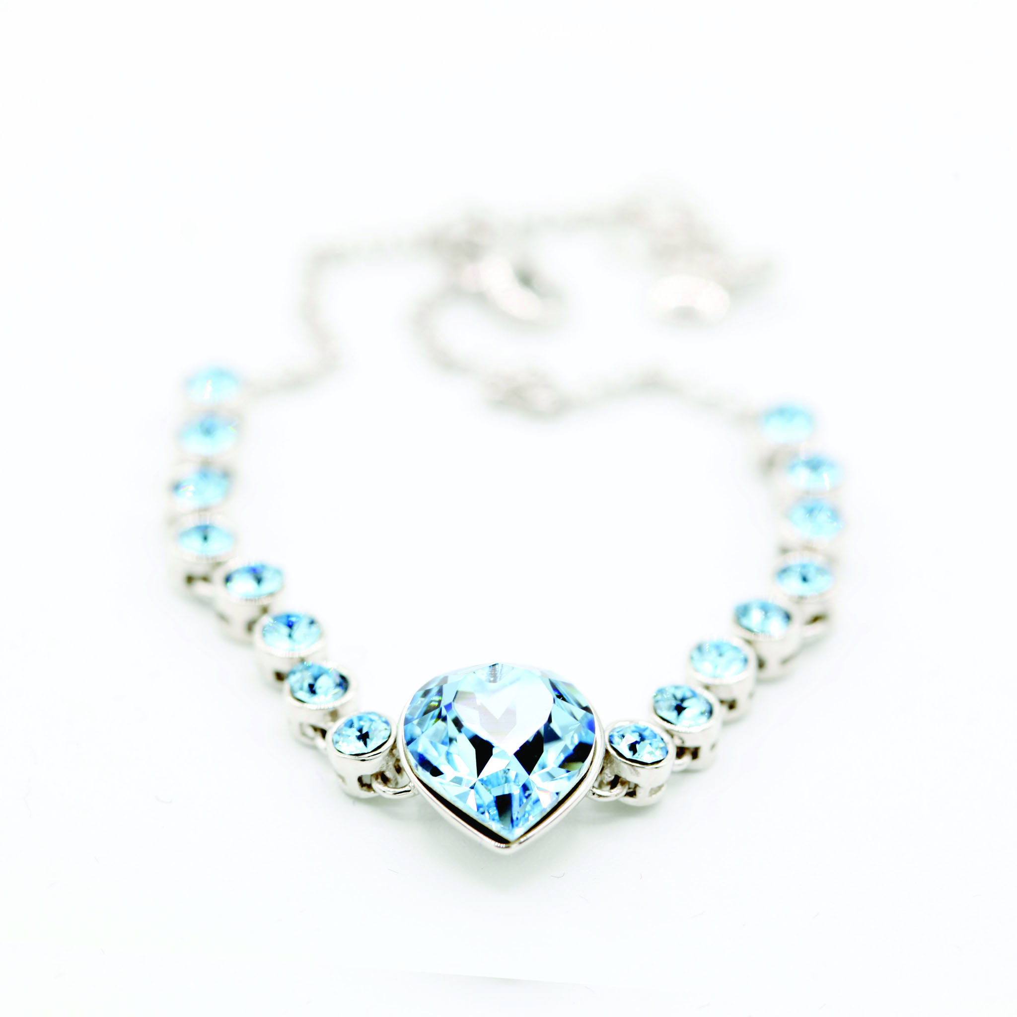 Blue Heart Swarovski Bracelet