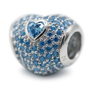 Blue Heart Love Charm