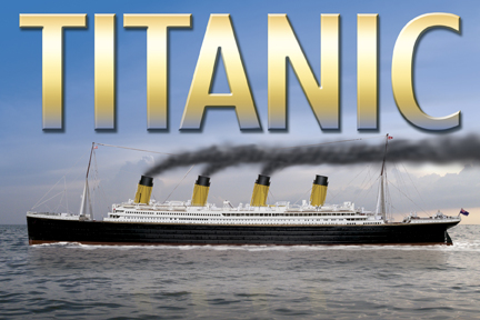 Noon Titanic Post Card