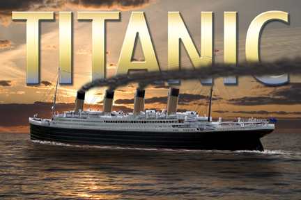 Sunset Titanic Post Card