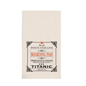 Boarding Pass Tea Towel