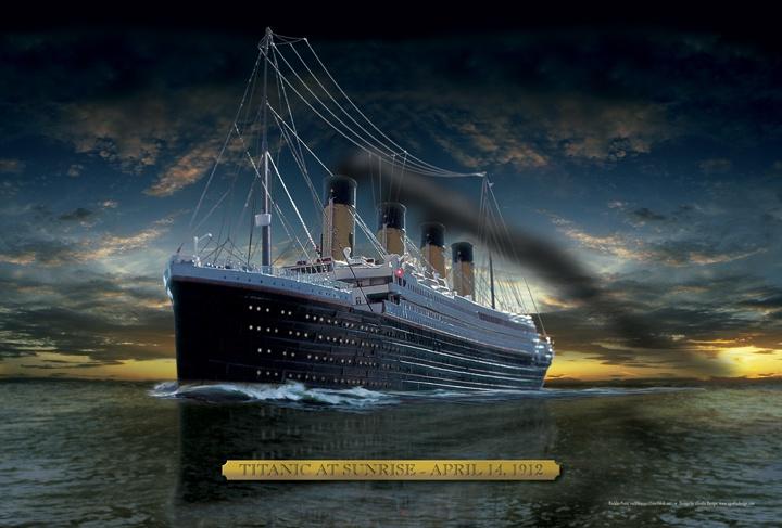 Sunrise Titanic Poster