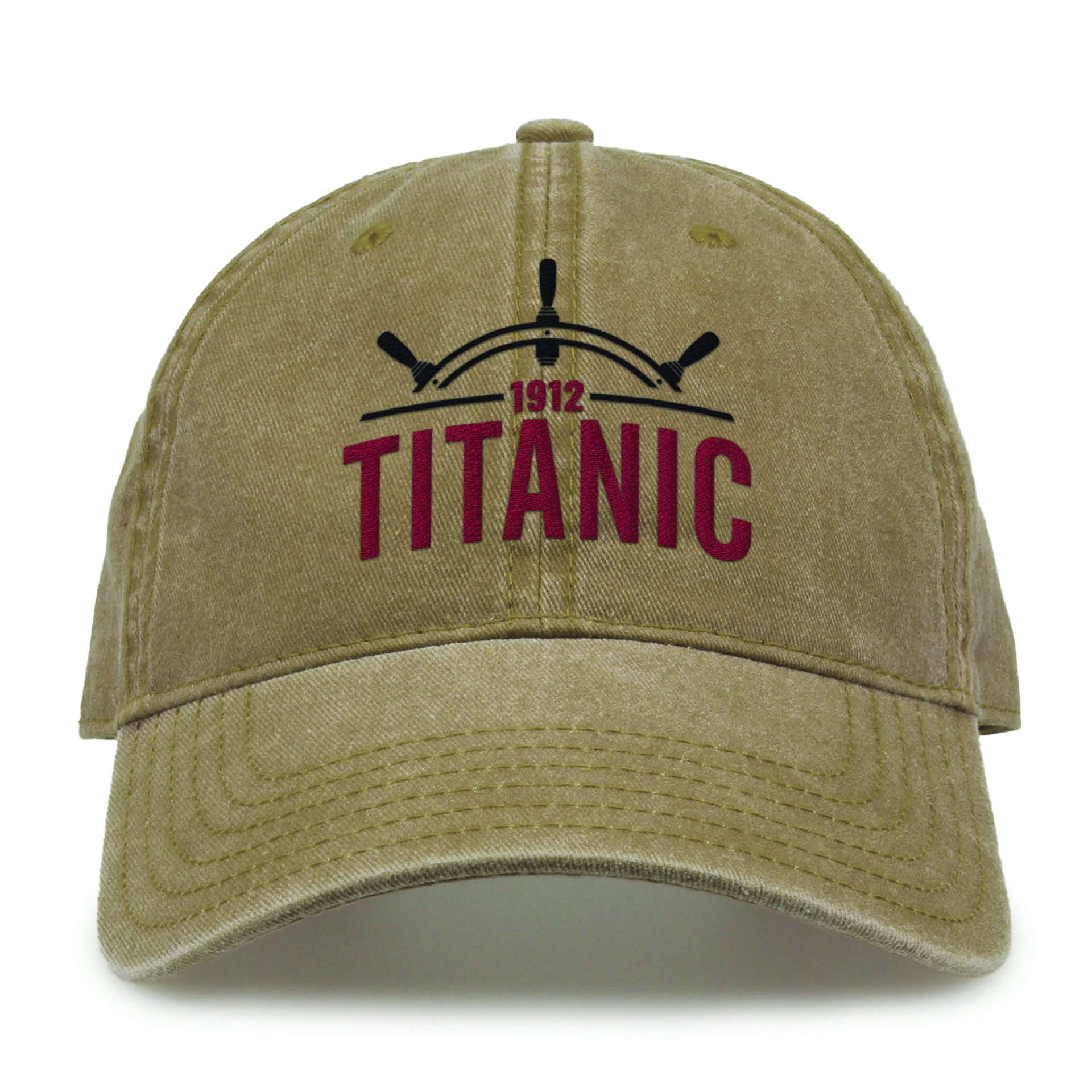 Titanic 1912 Ship Wheel Cap Khaki