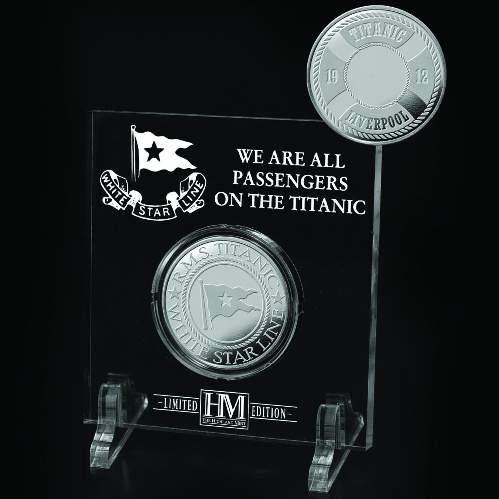 Acrylic 3 x 3 White Star Line Silver Coin