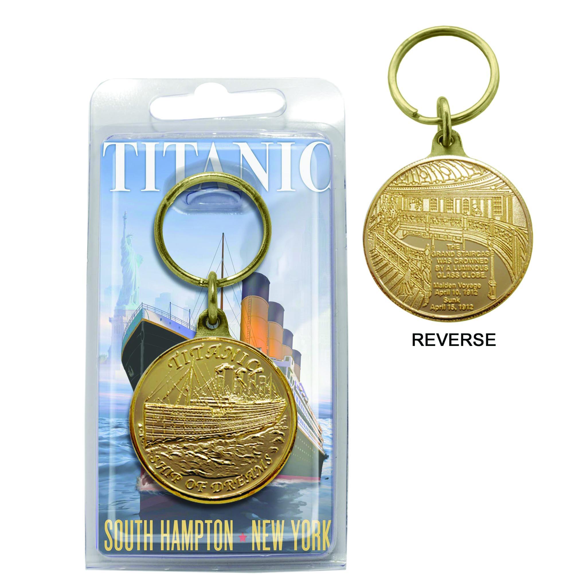 Bronze Coin Keychain