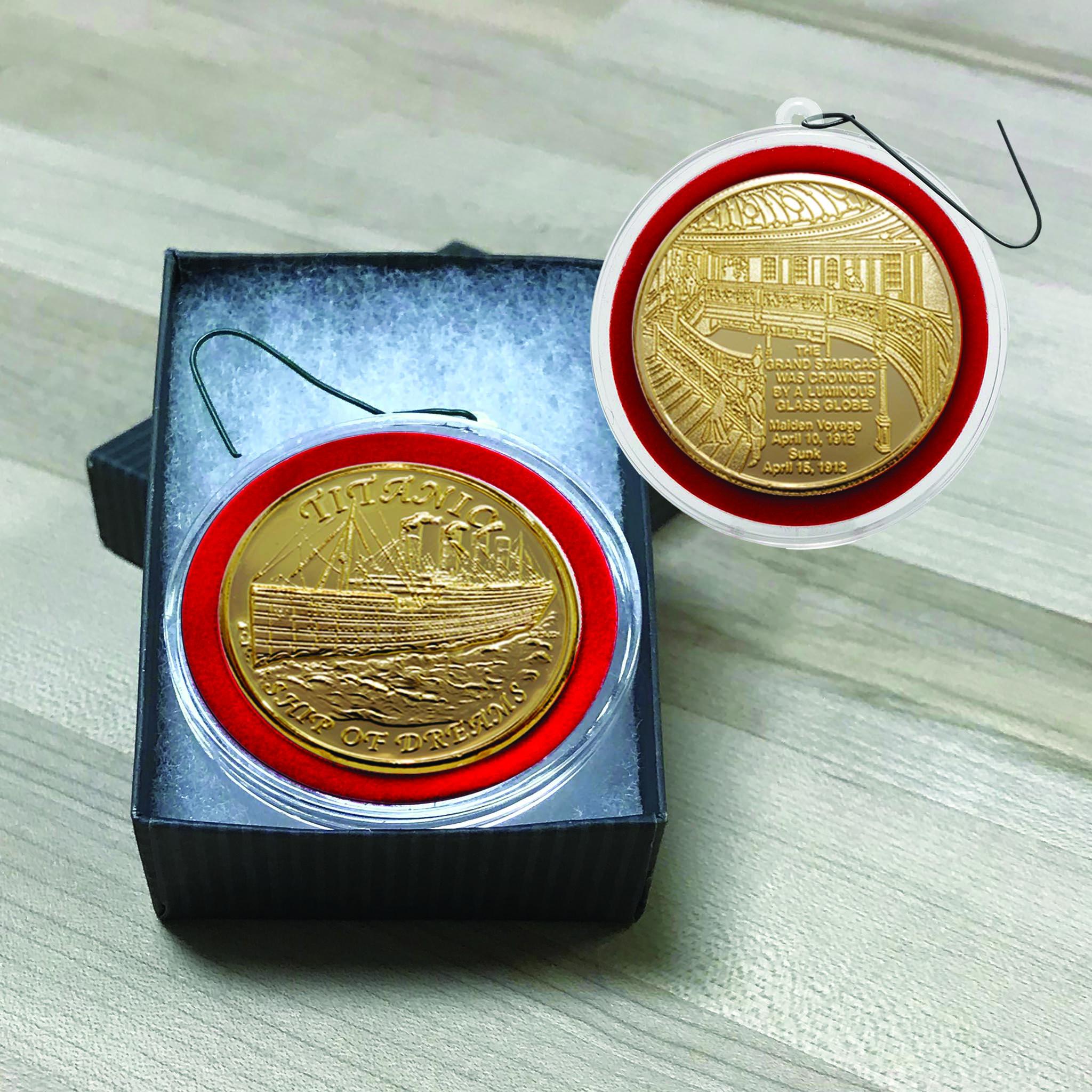 Titanic Bronze  Coin Ornament